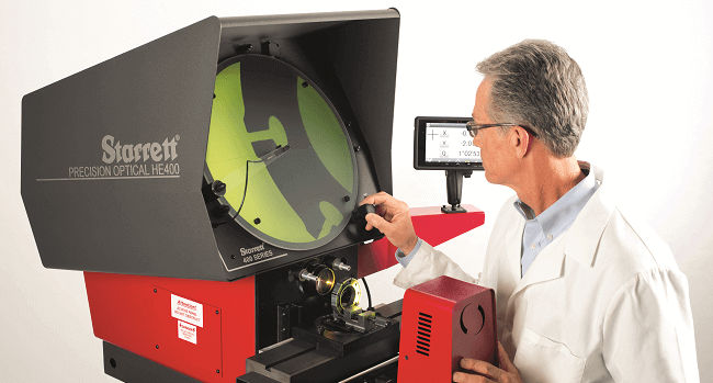 Starrett HE400 optical comparator